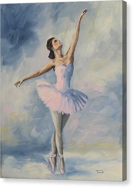 Ballerina 001 Canvas Print by Torrie Smiley