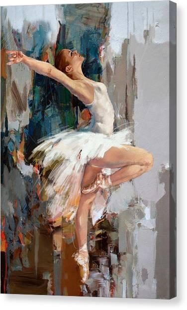 Ballet Canvas Print - Ballerina 22 by Mahnoor Shah