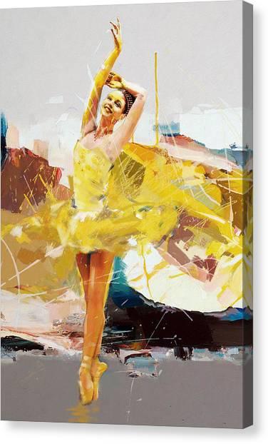 Figure Skating Canvas Print - Ballerina 33 by Mahnoor Shah