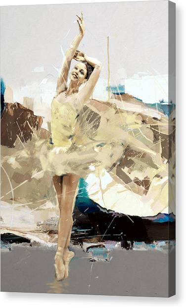 Figure Skating Canvas Print - Ballerina 34 by Mahnoor Shah
