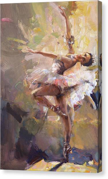 Figure Skating Canvas Print - Ballerina 35 by Mahnoor Shah