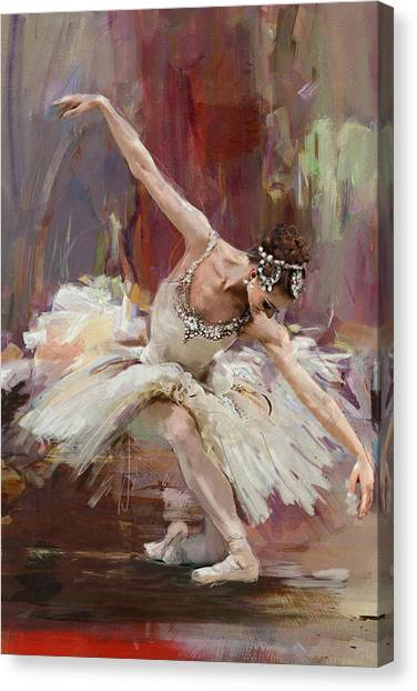 Figure Skating Canvas Print - Ballerina 36 by Mahnoor Shah