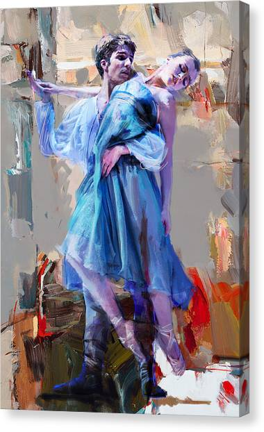 Figure Skating Canvas Print - Ballerina 37 by Mahnoor Shah