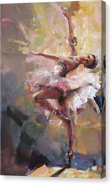 Figure Skating Canvas Print - Ballerina 40 by Mahnoor Shah