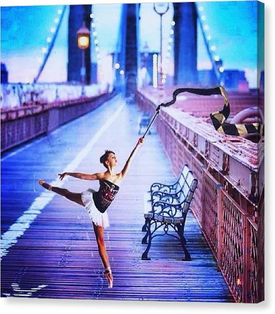 Ballerinas Canvas Print - #ballerina #ballet #photoshop #bridge by Perry M