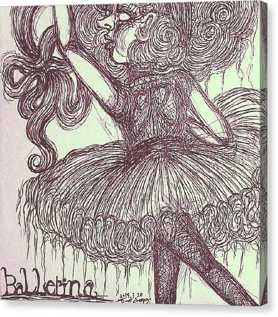 Ballerinas Canvas Print - #ballerina #girl  Part2 by Akiko Okabe