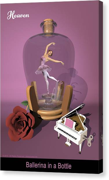 Ballerina In A Bottle - Heaven Canvas Print by Alfred Price