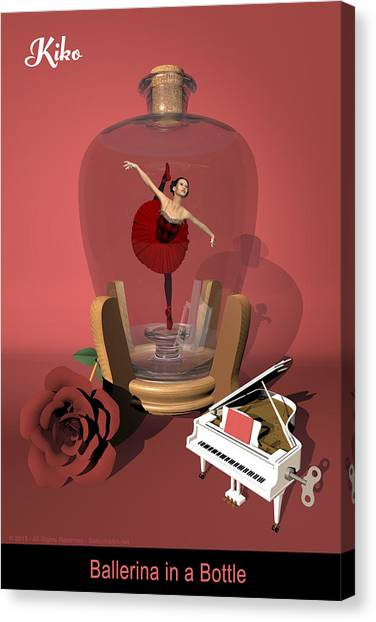 Ballerina In A Bottle - Kiko Canvas Print by Alfred Price