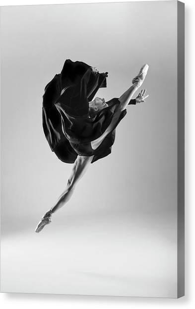 Ballerina Canvas Print by Piotr Leczkowski