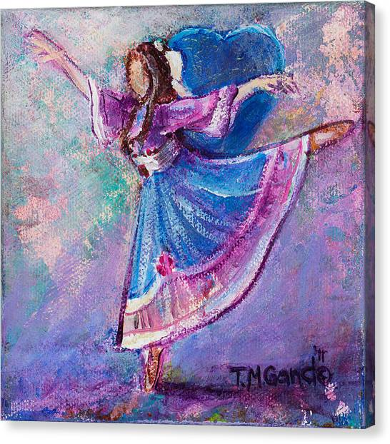 Canvas Print featuring the painting Ballerina by TM Gand