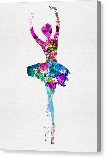 Costume Canvas Print - Ballerina Watercolor 1 by Naxart Studio