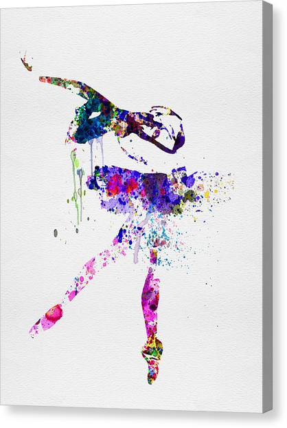 Vogue Canvas Print - Ballerina Watercolor 2 by Naxart Studio