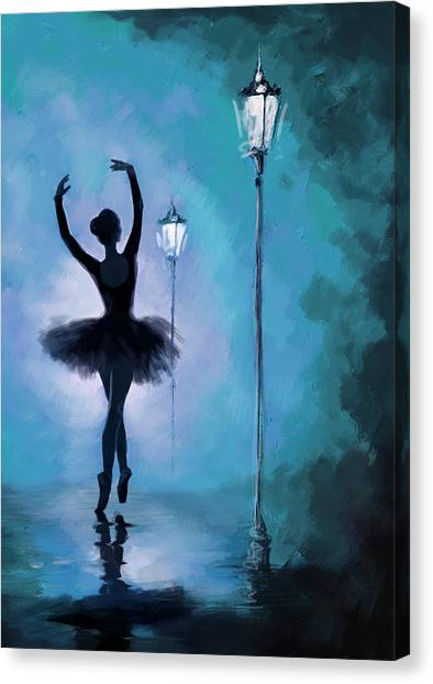Ballet In The Night  Canvas Print