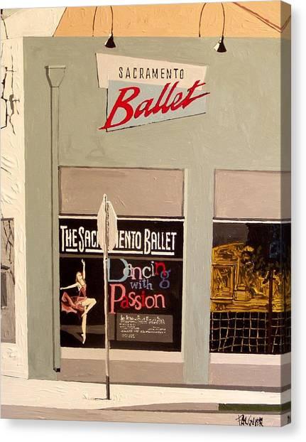 Ballet On K Canvas Print by Paul Guyer