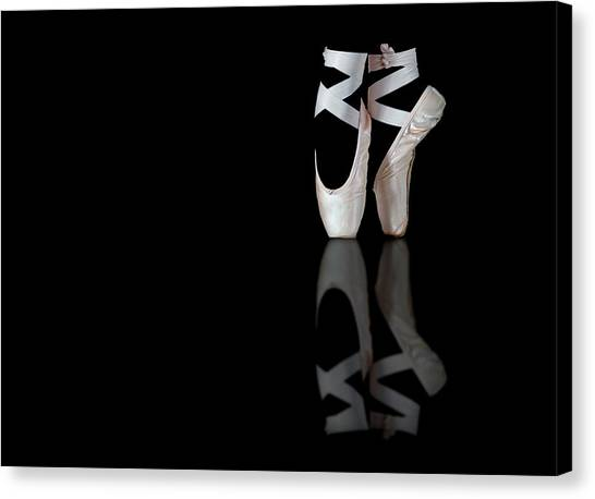 Ballet Shoes Canvas Print - Ballet by Pauline Pentony Ma