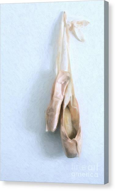 Ballet Shoes Canvas Print - Ballet Shoes by Diane Diederich