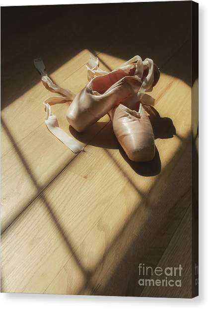 Ballet Shoes Canvas Print - Ballet Slippers by Diane Diederich