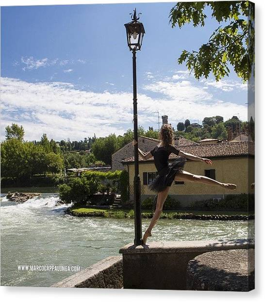 Ballerinas Canvas Print - #balletdancers #ballerinafeature by Marco Cappalunga