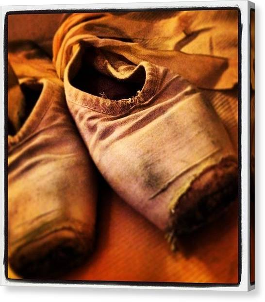 Ballet Shoes Canvas Print - Ballet Shoes by Jim Andrew