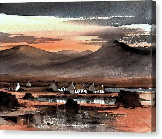 Connemara Sunset Galway Canvas Print