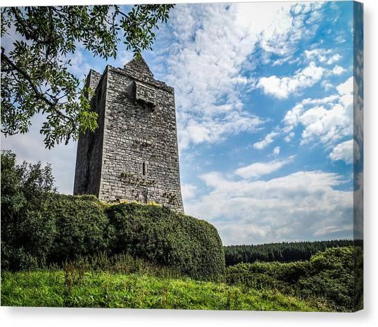 Ballinalacken Castle In Ireland's County Clare Canvas Print
