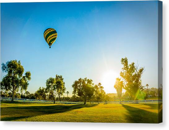 Balloon At Sunset Canvas Print