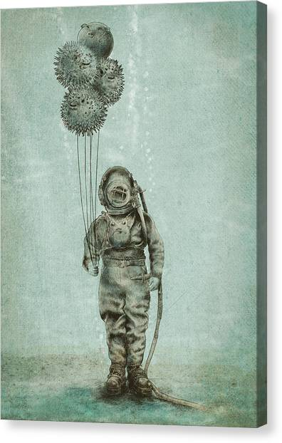 Party Canvas Print - Balloon Fish by Eric Fan