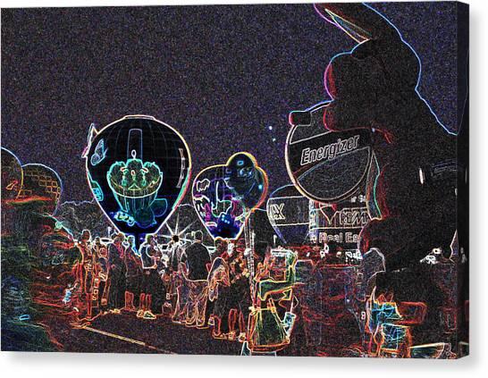 Balloon Glow - Neon Canvas Print