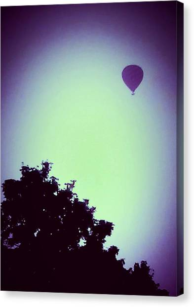 Hot Air Balloons Canvas Print - Balloon Pink Silhouette by Candy Floss Happy