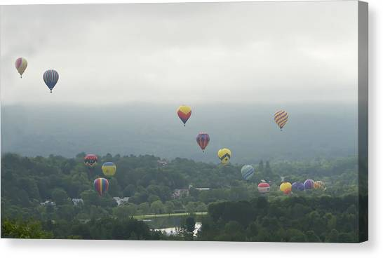 Balloon Rise Over Quechee Vermont Canvas Print