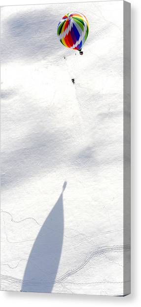 Balloon Snow Shadow Canvas Print by Stephen Richards