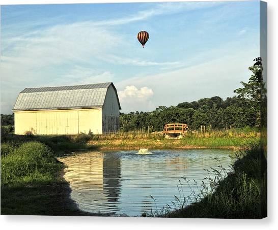Balloons And Barns Canvas Print