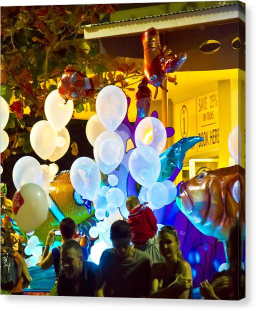 Canvas Print featuring the photograph Balloons by Debbie Cundy