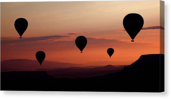Hot Air Balloons Canvas Print - Balloons by Engin Karci