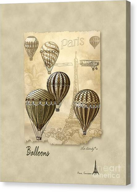 Balloons With Sepia Canvas Print