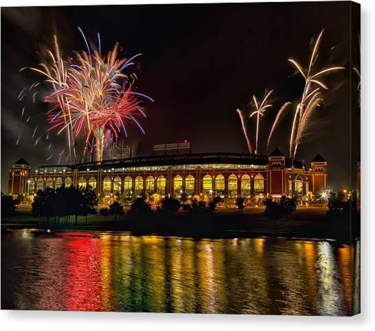 Ballpark Fireworks Canvas Print