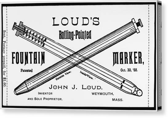 Ballpoint Pens Canvas Print - Ballpoint Pen, 1888 by Granger