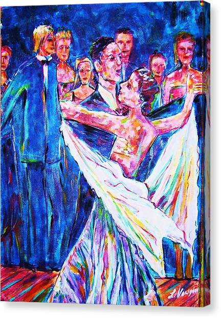 Ballroom Compitition Canvas Print by Linda Vaughon