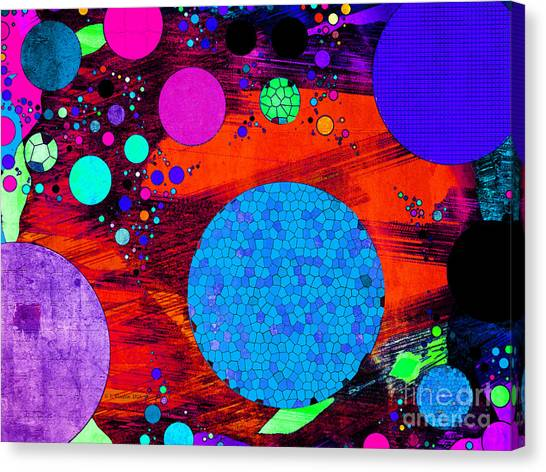 Canvas Print featuring the digital art Balls By The Dozen by Dee Flouton