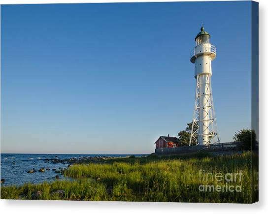 Rights Managed Images Canvas Print - Baltic Sea Lighthouse by Kennerth and Birgitta Kullman