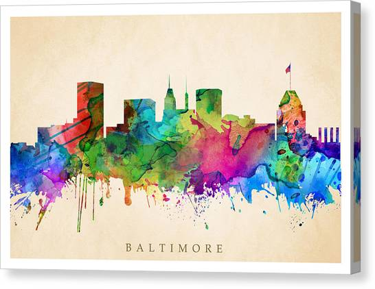 Baltimore Cityscape Canvas Print