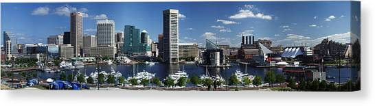 Baltimore Inner Harbor Panorama Canvas Print