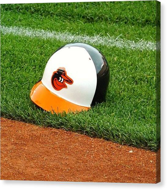 Baltimore Orioles Canvas Print - #baltimore #orioles #baseball #maryland by Pete Michaud