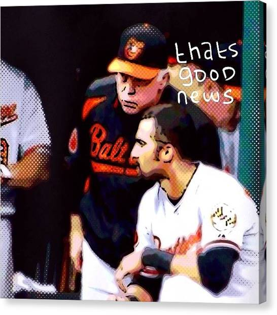 Orioles Canvas Print - #baltimore #orioles #baseball by Pete Michaud