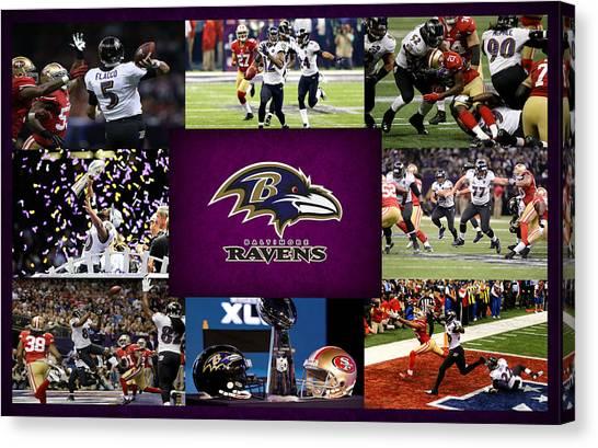 Baltimore Ravens Canvas Print - Baltimore Ravens 2 by Joe Hamilton