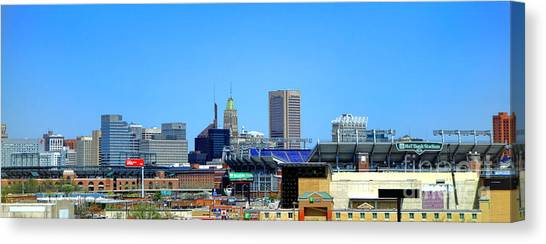 Baltimore Orioles Canvas Print - Baltimore Stadiums by Olivier Le Queinec