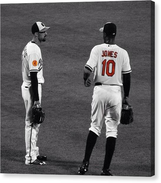 Orioles Canvas Print - @baltimoreorioles #orioles #maryland by Pete Michaud