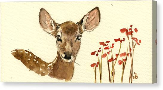 Mom Canvas Print - Bambi by Juan  Bosco