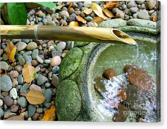 Bamboo Fountain Canvas Print