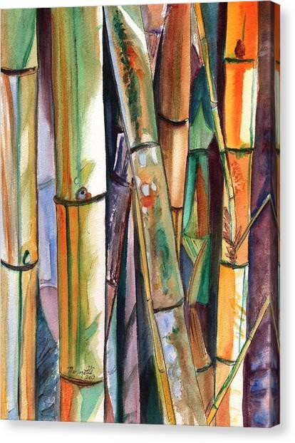 Bamboo Canvas Print - Bamboo Garden by Marionette Taboniar